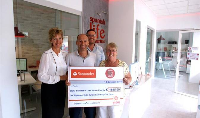 Summer Estate Agents Charity Ball raised €1865 for The Children's Home in Elche